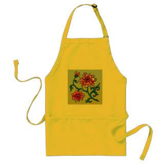 Decorative Floral Design Standard Apron