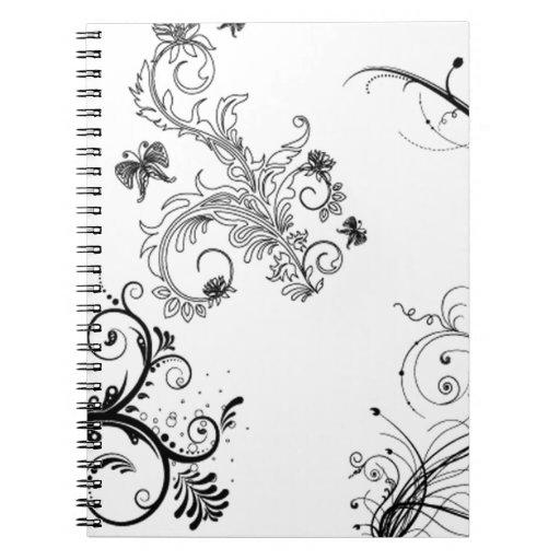 Decorative floral ornaments notebook
