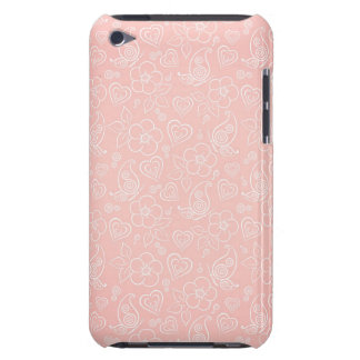 Decorative floral pattern iPod touch case