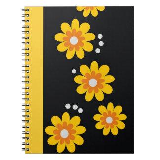 Decorative Floral Pattern Spiral Bound Notebook
