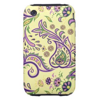 Decorative floral patterns iPhone 3 tough case