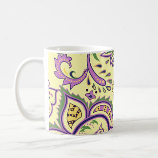 Decorative floral patterns coffee mug