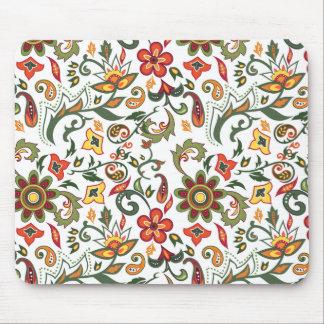 Decorative floral patterns mouse mat
