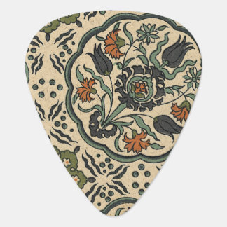Decorative Floral Persian Tile Design Guitar Pick