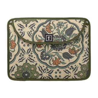 Decorative Floral Persian Tile Design Sleeve For MacBook Pro