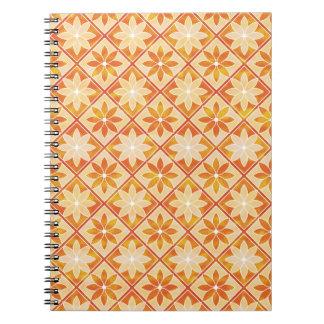 Decorative Floral Tiles Notebook - Autumn