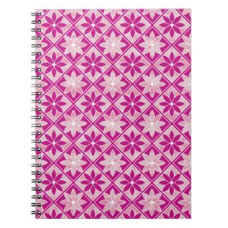 Decorative Floral Tiles Notebook - Purple