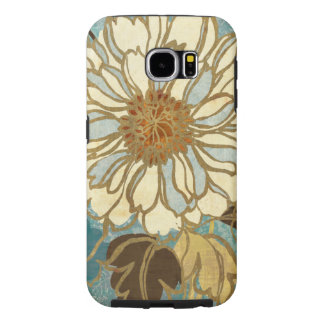 Decorative Florals in Blue and White Samsung Galaxy S6 Cases
