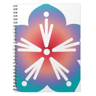 Decorative Flower Spiral Note Books