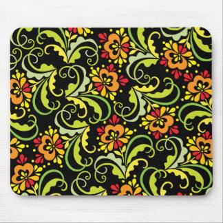 decorative flowers mouse mat