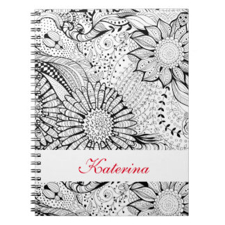 Decorative flowers notebook