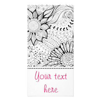 Decorative flowers picture card