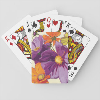 Decorative Flowers Poker Deck