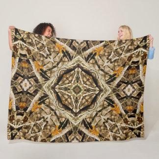 Decorative Forest Mandala Acrylic Art Fleece Blanket