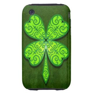 Decorative Four Leaf Clover iPhone 3 Tough Cover