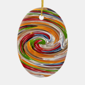 Decorative Fruity Twirl Wave Pattern Christmas Ornament