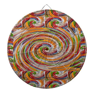 Decorative Fruity Twirl Wave Pattern Dartboard