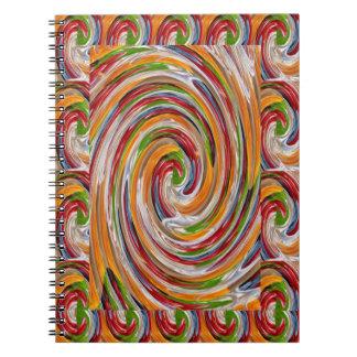 Decorative Fruity Twirl Wave Pattern Notebook