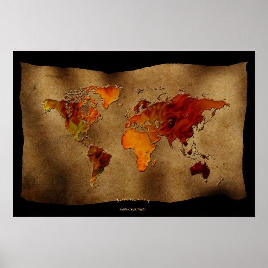 "Decorative Fun ""Ye Olde Worlde Map"" Art Poster"