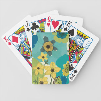 Decorative Garden Flowers Bicycle Playing Cards