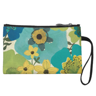 Decorative Garden Flowers Wristlet