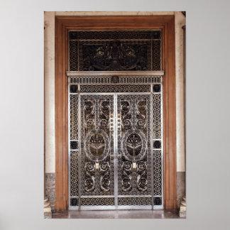 Decorative gates of Galerie d'Apollon in Posters