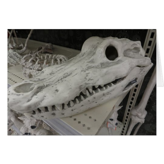 Decorative Gator Skull Card