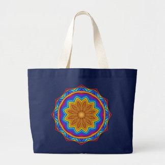 Decorative Geometric Flower Medallion Tote Jumbo Tote Bag
