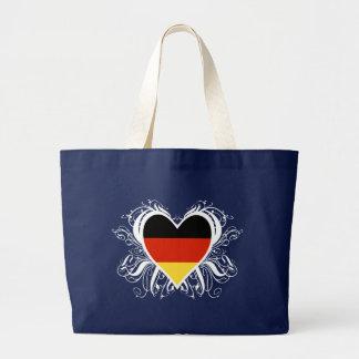Decorative German Heart Large Tote Bag