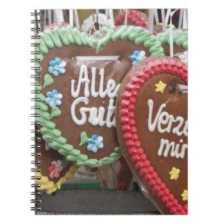 Decorative gingerbread cookies spiral notebook