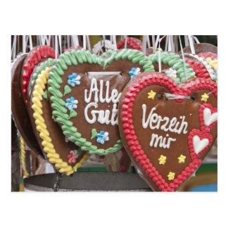 Decorative gingerbread cookies postcard