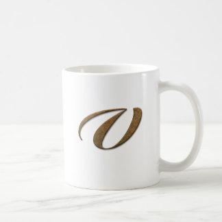 Decorative Gold Monogram Mugs