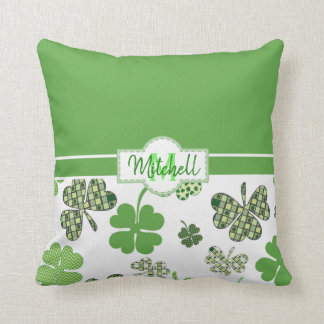 Decorative Green Clover St Patrick's Day Cushion