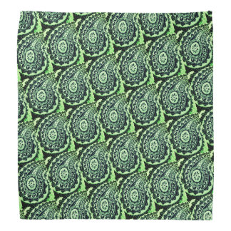 Decorative Green Floral Paisley Bandana