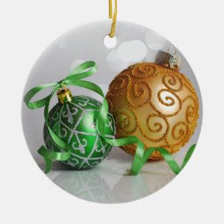Decorative Green Gold Ornaments Ceramic Ornament
