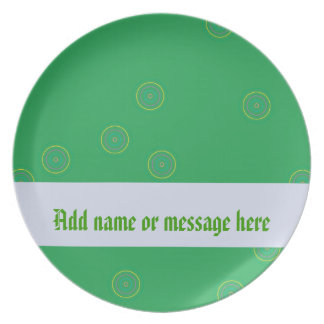 Decorative Green Party Plate