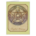 Decorative Green Pastel Pentacle Cards