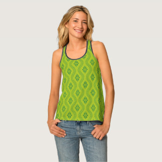 Decorative green pattern women's Tank Top