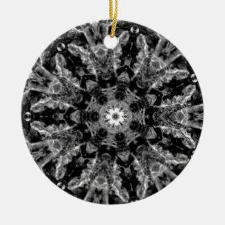 Decorative Grey kaleidoscope Art Round Ceramic Decoration