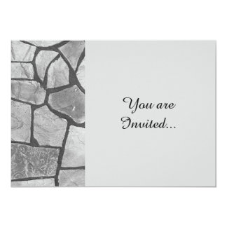 Decorative Grey Stone Paving Look 5x7 Paper Invitation Card