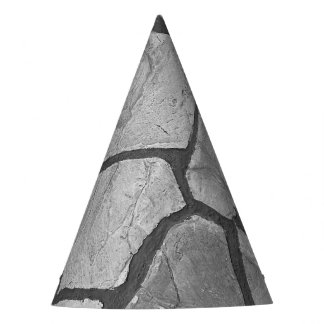 Decorative Grey Stone Paving Look Party Hat