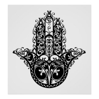 Decorative Hamsa Design 2 Poster