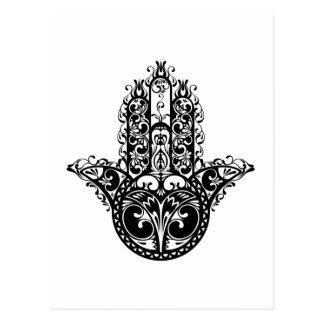 Decorative Hamsa Design Postcard