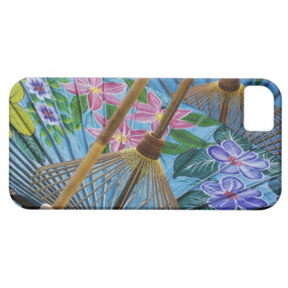 Decorative hand painted umbrellas in the village iPhone 5 cover