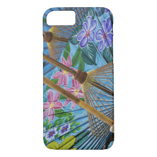 Decorative hand painted umbrellas in the village iPhone 8/7 case