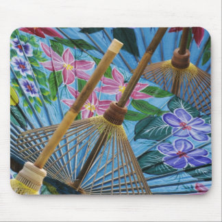 Decorative hand painted umbrellas in the village mouse pad