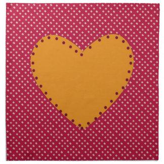 Decorative Heart Napkin