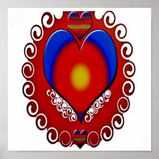 Decorative Heart Print