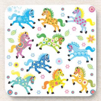 decorative horses beverage coaster