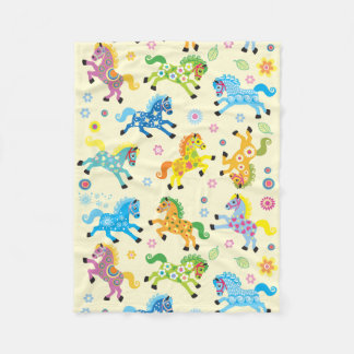 decorative horses fleece blanket